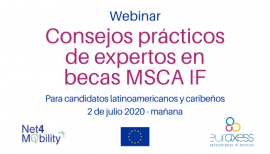 Image of (531688) Webinar for LAC researchers: How to write a successful MSCA IF proposal
