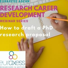"""Image of (608361) EURAXESS ASEAN Career Development Webinar Series 2021 – Session 1 """"How to Draft a PhD Research Proposal"""""""