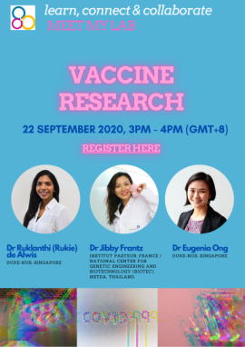 Image of (550042) learn.connect & collaborate. 'Meet my Lab': Vaccine Research