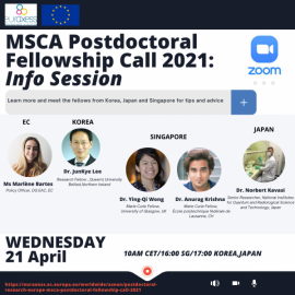 Image of (630841) Postdoctoral Research in Europe: MSCA Postdoctoral Fellowship Call 2021