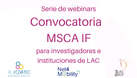 Image of (512842) Webinars on MSCA IF for LAC researchers and institutions