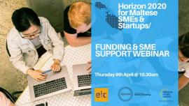 Image of (511055) Recording of the Webinar: Horizon 2020 for Maltese SMEs - Support & Funding