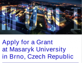 Image of (561619) Grant for both senior and junior researchers at Masaryk University, Czech Republic