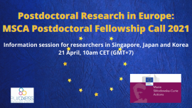 Image of (621875) Join the Webinar about Postdoctoral Research in Europe: MSCA Postdoctoral Fellowship Call 2021