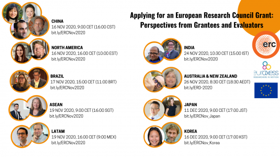 Euraxess WW and ERC webinar series